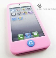 L PINK SOFT SILICONE GEL CASE COVER W/ BUTTON PROTECTION APPLE IPHONE 5 5S SE