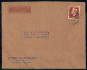 Mayfairstamps Netherlands P Melchers Distilleries Holland Queen Cover wwm_48169