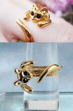 bague animal DOREE chat ajustable simple cat ring retro art deco bijou bijoux