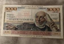 Billet De 5000 Contre Valeur De 100 Nouveau Francs Reunion