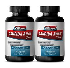 Colon Flush Capsules - Candida Away Complex 1275mg - Probiotics 2B