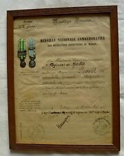 DIPLÔME MÉDAILLE COMMÉMORATIVE MAROC 1912 3° SPAHIS CAVALERIE AVEC 2 MINIATURES