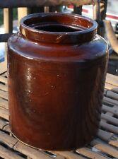 "Vintage Redwing salt glaze crock brown albany slip stamped 8 1/2"" x 7"" pottery"