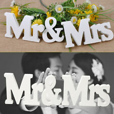 Mr & Mrs Wooden Letters Wedding Decoration Gift Top Table Decoration Present
