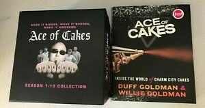 Ace of Cakes Season 1-10 box set with apron & Ace of Cakes book Duff Goldman