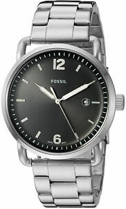 Fossil The Commuter Black Dial Stainless Steel Men's Watch - FS5391