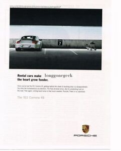 2007 PORSCHE Carrera 4S Silver In Parking Garage Vintage Ad