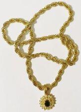 collier torsadé vintage couleur or rodié pendentif mobile cristaux diamant  4478
