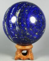 Natural Polished Blue Lapis Lazuli Quartz Sphere Ball Healing  From Afghanistan