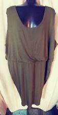 Ava & Viv New Womens Dress Sz 4X  OLIVER Green SLEEVELESS KNIT
