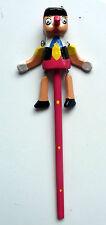 Crayon à papier marionnette Pinocchio en bois enfant écolier rentrée des classes