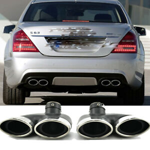 Exhaust Tips for Mercedes Benz W220 S430 S500 S320 Stainless Steel Muffler Pipes