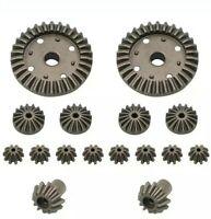 ACROSS und 144001 Metal Tuning Differential Zahnräder Wltoys 12428 1:12 RC NEU