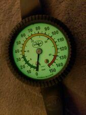 Dacor Scuba Diving Dept Gauge Wrist Watch Glows In The Dark