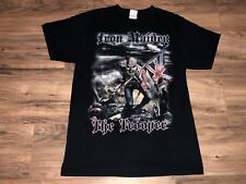 VTG Iron Maiden The Trooper 2 Sided Graphic T-shirt Mens Medium Black Rock Band