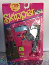 Mattel~1990 Barbie SKIPPER Trendy Teen Fashions Pink & Jean Outfit ~774