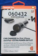 Griffin GC23091 PowerJolt Plus iPad iPhone Ipad Car Charger + Extra Power Outlet