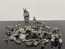 Vtg Estate Lot Miniature Fine Pewter Figurines Novelty
