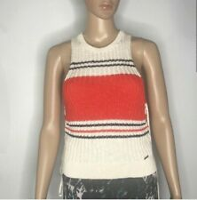 Abercrombie & Fitch Knit Sleeveless Cotton Top Size S Juniors Casual Lace Up