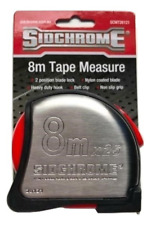 Sidchrome 8m x 25mm Stainless Steel Measuring Tape 26121