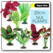AQUARIUM SILK PLANTS Artificial Fish Tank DECOR Plastic Small Medium Biorb Biube
