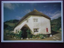 POSTCARD DEVON THATCHED COTTAGE