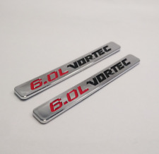 2pcs Chrome 6.0L VORTEC Car Body Emblems Badges Fit Chevy Silverado 1500 2500 HD