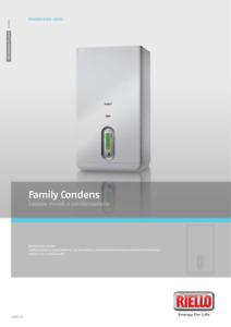 RIELLO CALDAIA A CONDENSAZIONE FAMILY CONDENS 3.0 IS - METANO