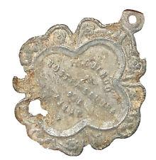 Antique European Catholic Artifact: Religious Pendant Or Amulet Christian Relic