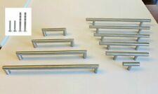Modern Brushed Nickel Stainless Steel Kitchen Cabinet Bar Pulls Handles Hardware