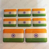 Pegatinas India Pegatina Bandera India Vinilo Adhesivo 3D Relieve Resina