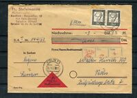 Nachnahme Beleg Köln BRD Mi.-Nr. 354 MeF waagerechtes Paar - b6434