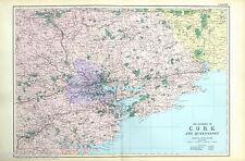 Cork & Queenstown-Originale Grande Antico Mappa/Street Piano-pancetta, 1912.