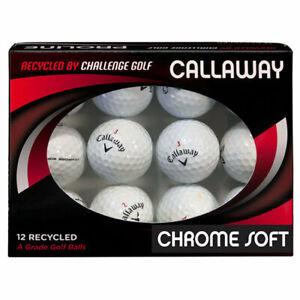 Callaway Chrome Soft X GOLF BALLS Recycled GRADE A  FREE P&P  Discount for 2 Doz