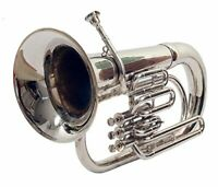 Brass Euphonium Bb Professional Nickel Finish w/ Hard box & Mp Fast Ship