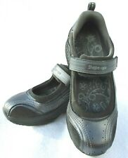 Skechers Shape Ups Womens 7 Leather Suede Mary Jane Strap Walking Excercise Shoe