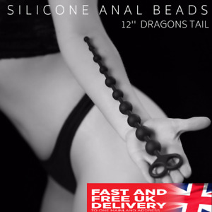 Anal Beads Large Butt Plug Sex Toy Dragons Tail Prostate Massager 13.5'' Inch UK