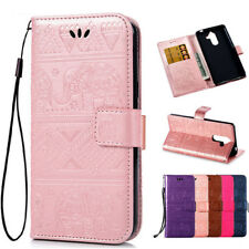 Elephant Pattern Leather Wallet Stand Flip Case Cover For Nokia 1 2 6 7plus N105