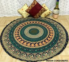 Mandala Queen Tapestry Roundies Top Design Cotton Hippie Picnic Wall Art Ombre