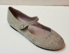 New Beautiful Designer PAPANATAS Girls Gold/Beige Mary Jane Shoes 32 SPAIN