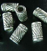 30pcs Tibetan Silver Crafted Tube Spacer Beads T336