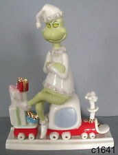 Lenox Dr. Seuss All Aboard With Mr. Grinch Figurine Mint in Box NEW COA