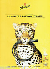 PUBLICITE ADVERTISING 125  2002  SCHWEPPES INDIAN TONIC  soda boite