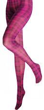 Silky Tattoo Tartan Tights ~ Carnegie Pink ~ Medium