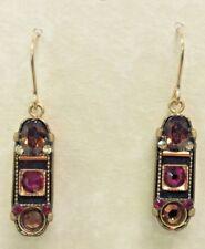 Firefly Fair Trade Jewelry Smoked Topaz La Dolce Vita Pendant Earrings 7369-ST