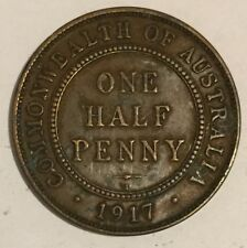 Commonwealth of Australia One Half Penny Coin 1917 - George V