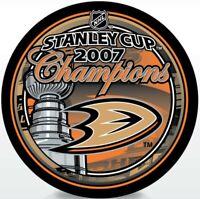 Anaheim Ducks 2007 Stanley Cup Finals Champions Hockey Puck