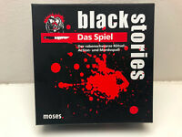 Black Stories Das Spiel von Moses Brettspiel Karten Humor Gesellschafts