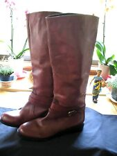 New  Women's Cordovan Leather Tall Riding Boots Size 9 NEW !!