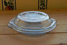 Rare Fire-King Philbe Pie Plate Baker Handled Casserole W/ Lid